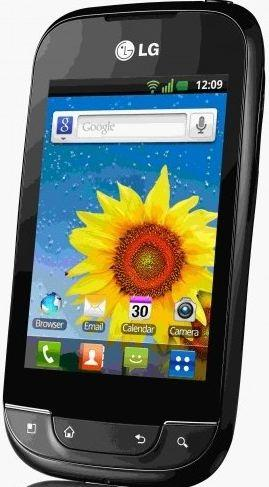 LG optimus net front view