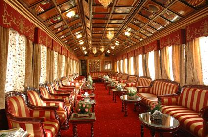 Interiors of the train Palace on Wheels