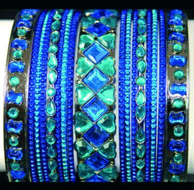 Blue coloured beautiful Bangles
