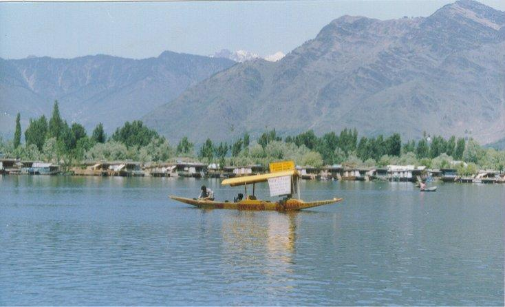 View of Houseboats on Dal Lake, Kashmir