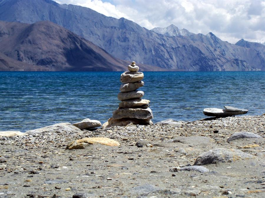 View of lake in Ladakh