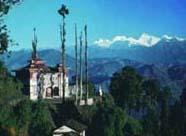 View of the Bhutia Busty Monastery in Darjeeling