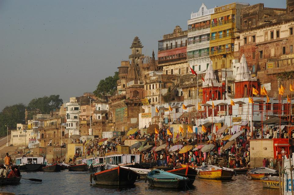 Ghats at the River Ganges in Varanasi