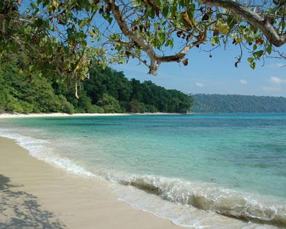 View of a Beach in the Andaman Islands