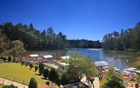 View of the Lake from the Hotel Lake View Ooty