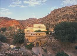 A view of the Samode Palace, Jaipur