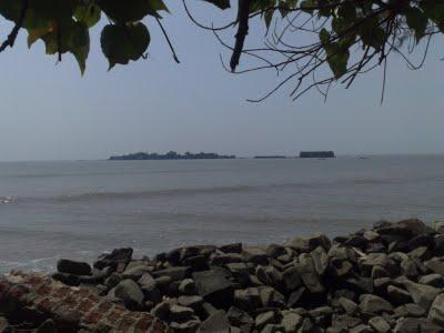 View of the fort from the Alibag beach