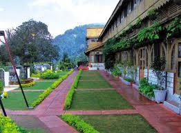 Landscaped garden at Grand View Hotel