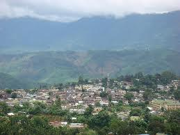 A view of the Umrongso Hill station, Assam